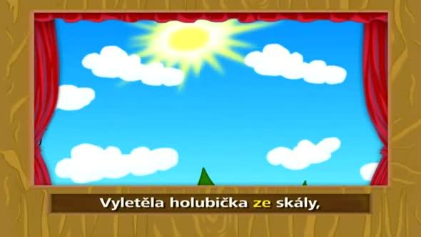 Pisnicky pro deti   Vyletela holubicka avi
