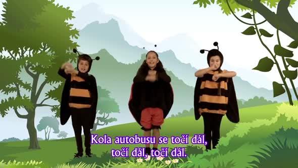 Písničky pro děti   Kola autobusu, Malý pavouček, Pejsek Bingo mp4